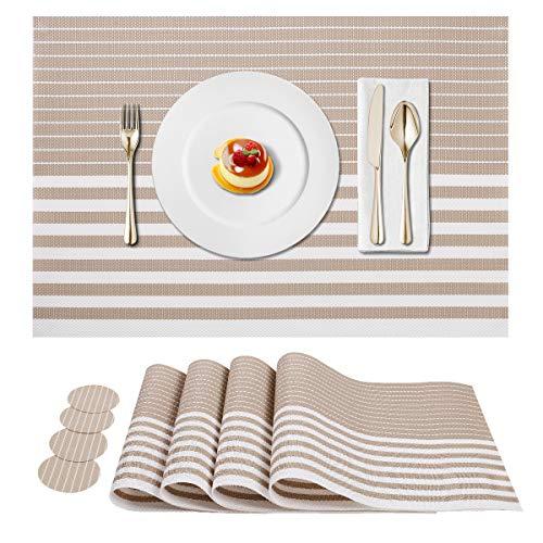 WOMGF 8 Pezzi Tovagliette Antiscivolo Resistente al Calore Tovaglietta Americane Lavabili per Tavolo da Cucina Set per Decorazioni Matrimoni Eventi Festa