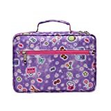 Girls Study Bible Covers for Childrens Kids Good Holy Hope Book Carrier Case Purple with Pockets Zipper Scripture Verse Storage Carrying Bag Christian Jesus Journaling Oragnizing Pouch Thinline Nylon