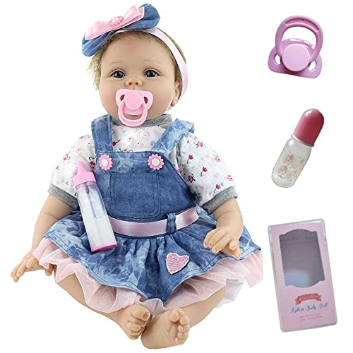 ZIYIUI Muñecas Reborn Bebé Niña 22 Pulgadas 55cm Silicone Morbido Vinile Bebes Reborn Baratos Bebé Reborn Barato Juguetes Bebes Reborn Regali di Natale Reborn Dolls (1)
