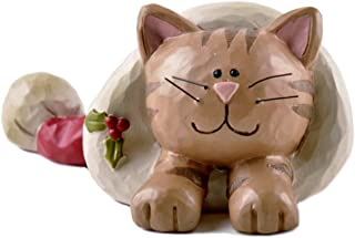 blossom bucket cat figurines