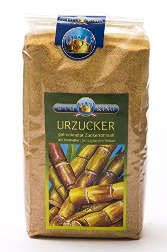BioKing 2x 1000g BIO Urzucker, VOLLROHRZUCKER (EUR 7,99 / kg)