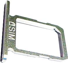 Repuesto Original, Bandeja Tarjeta SIM para Samsung Galaxy S6 (SM-G920F), Blanco Azul