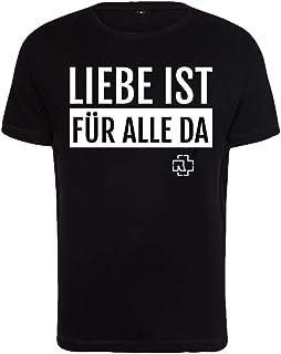 Rammstein Herren T-Shirt Liebe ist für alle da schwarz Offizielles Band Merchandise Fan Shirt schwarz mit mehrfarbigem Front Print