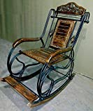 Worthy Shoppee Wooden & Iron Rocking Chair (Multi-Color) (Standard1)