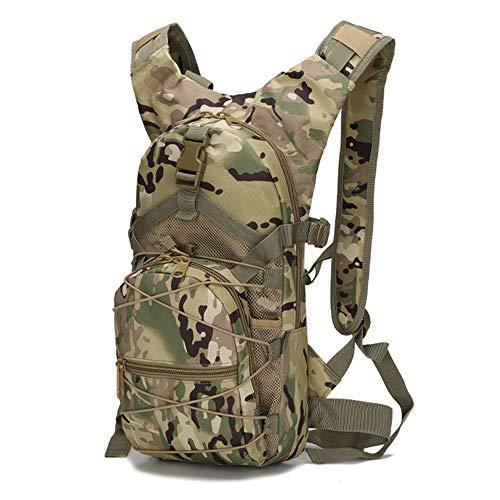 Greenpromise Molle Taktischer Rucksack, 15 l, 800D Oxford, Militär, Wandern, Fahrrad-Rucksack, Outdoor-Sport, Radfahren, Klettern, Camping (CP Camouflage)