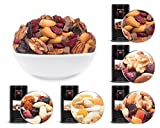 CrackersCompany 5in1 'Studentenfutter' Probierset 5x Snack Knabber Mix in Dosen, 1x Choco Fruit Nut Mix, 1x Blue Mountain, 1x Clubhouse Mix, 1x Malibu Blend, 1x Rio Blend - Zusammen: 3400g