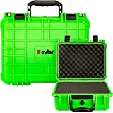 Eylar Protective Gear and Camera Hard Case Water & Shock Proof with Foam 13.37 inch 11.62 inch 6 inch Neon Green