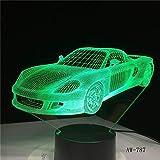 3D Nachtlicht,Bunte Usb Auto Modell 3D Lampe Schlafzimmer Schlaf Licht Led Tischlampe Fußball Kind Nachtlichter Geburtstag Wohnkultur