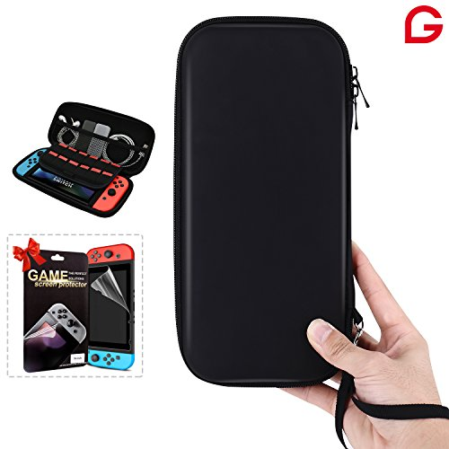 Nintendo Switch Case COLOGGO Hard Shell Best Travel Carrying Case for Nintendo Switch Console & Accessories with Screen Protector for Nintendo Switch