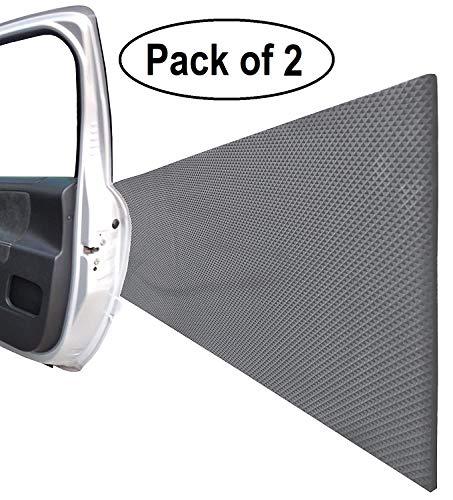 FLWP20020Bx2 Protectoras paragolpes de pared parking, fabricado en espuma autoadhesivo, para espacios de estacionamiento, garajes y almacenes, 200x20x0,5 cm, negro (2 piezas)