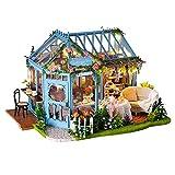 La Vida en Led DIY Invernadero Jardín Casa de Muñecas de Te Puzzle 3D con Luz y Música (Casa DIY Tea Garden)