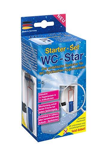 WC-Star – der praktische Speicher für WC-Spülkasten-Hygienesteine, (Wasserkastensteine, Blauspüler)