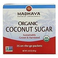 Madhava オーガニック ココナッツシュガー(25Packets x 3箱)[海外直送品][並行輸入品]