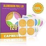 CAPMESSO Couvercles en Papier Aluminium Autocollants pour des Capsules d'Espresso...