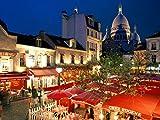 Lulcly Puzzle 1000 Piezas Adultos Paisaje De La Ciudad Sacre-Coeur Mont Martre París Francia Madera Regalos Educativos De Bricolaje Para Niños Pieza Póster