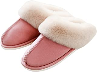 SOSUSHOE Womens Slippers Fluffy Fur Soft Memory Foam Slippers Warm House Shoes Indoor Outdoor Winter