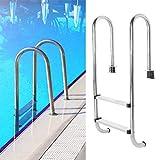 Escalera de piscina de 2 escalones Escalera de piscina anticorrosión anticorrosión Fácil de sostener Durable para piscina