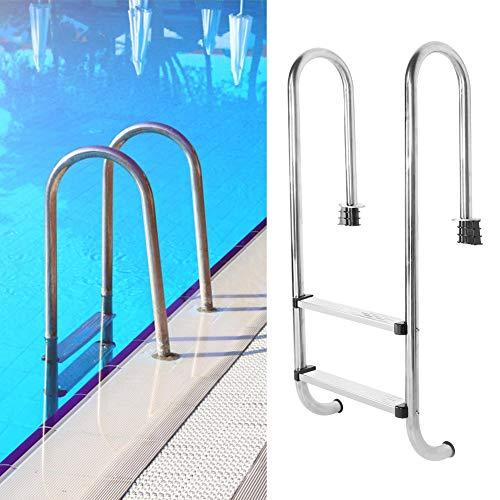 2-staps zwembadladder Anticorrosieve anti-val zwembadladder Gemakkelijk vast te houden Duurzaam voor zwembad