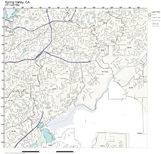 ZIP Code Wall Map of Spring Valley, CA ZIP Code Map Laminated