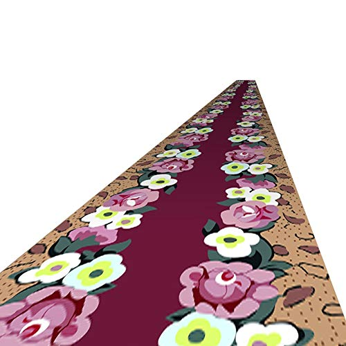 Area Rugs Luxury Area Rug Modern Indoor Fluffy Mats | Soft and Comfy Carpet Flowers Patterns Rugs for Bedroom/Living Room/Girls, Kids Room | Non-Slip (Size : 80×600cm)