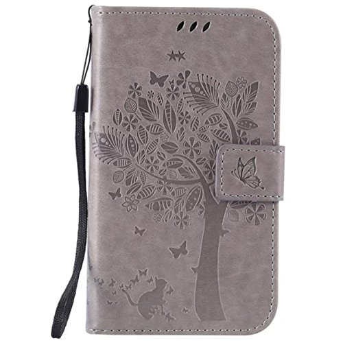 HUANGTAOLI Custodia in Pelle Portafoglio Flip Case Cover per Samsung I9060i Galaxy Grand Neo Plus(i9060i/i9060/i9062)