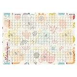 Milestone Wandkalender A1 mit 200+ Stickern, 10 Mini-Wäscheklammern und Klebepads zum Aufhängen – Baby Erinnerungen festhalten für Mädchen und Jungen
