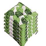 AGDLLYD Lot de 6 galettes de Chaise 40x40, Coussin décoratif Coussin Coussin de Chaise Coussins de Jardin 12 surpiqûres en Un Motifs différents, Polyester (L)