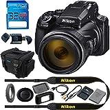 Nikon COOLPIX P1000 16.7 Digital Camera with 3.2' LCD, Black - Basic Accessories Bundle