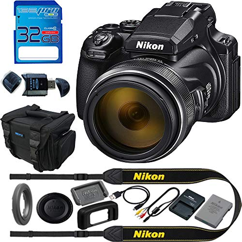 Nikon COOLPIX P1000 16.7 Digital Camera with 3.2' LCD, Black - Basic Accessories Bundle