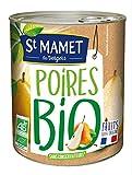 St Mamet - Les Vergers - Les Fruits BIO - Poires Williams Bio - Demi-Fruits au Sirop Léger - Salade de Fruit Préparée - Dessert Pratique, Bon et Fruité - Goût Délicieux - 450g