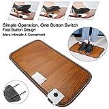 Warme Fußauflage, einstellbare elektrische Erwärmung beheiztes Brett für Office Home Fußmatte Heizung Fußwärmer Thermostat Pads 20,5 x 11,8 Zoll (EU) - 2