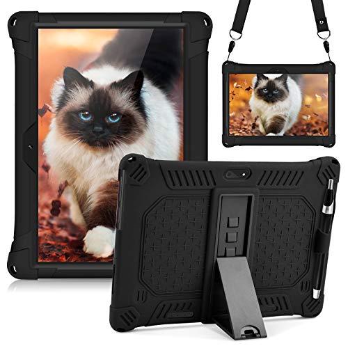 KATUMO 10 Pulgadas Tableta Silicona Funda Compatible con Dragon Touch Notepad K10 / Max10, ZONKO 10.1, Hoozo 10, Winsing 10, Lectrus 10.1 Funda Goma Universal Tab 10.1 Stand Case