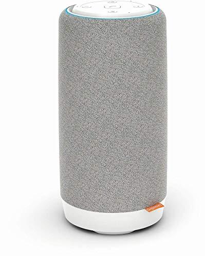 Gigaset Smart Speaker L800HX - Lautsprecher mit Alexa-Integration und eingebautem Telefon - zum Anschluss an DECT Basisstationen, DECT Router - kompatibel mit Fritzbox, grau