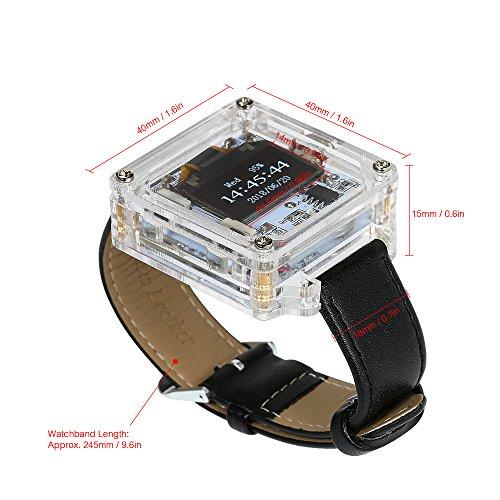 Nishore LED Uhr DIY LED Digital Rohr Armbanduhr Elektronische Uhr DIY Kit schwarz