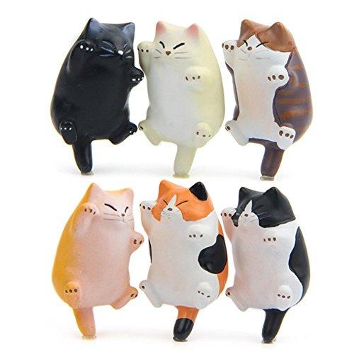 Magneti per Frigorifero Cat Magnete da ufficio, Divertente Cucina del gattino Ornamento di gatto frigorifero giocattolo, Perfetto per Lavagna,Regalo per Signora Amanti dei gatti Novità Butt 6 pacchi