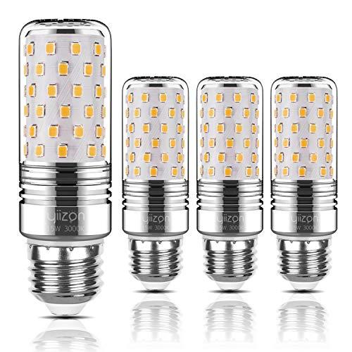 Yiizon lampadine LED di mais, candelabro a LED da 15 W, E27, 120W equivalenti a incandescenza, 3000K Bianca Calda, 1500LM, CRI80+, non dimmerabile(4 pezzi)