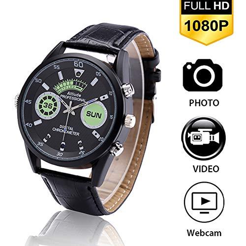 ZFYM Multifunktionale Herren-Armbanduhr, 1920 × 1080p, HD, Smart-Kamera, modische Digitaluhr, Netzwerk-Videoaufzeichnung, wasserdicht, mit integrierter Speicherkarte, 70 G
