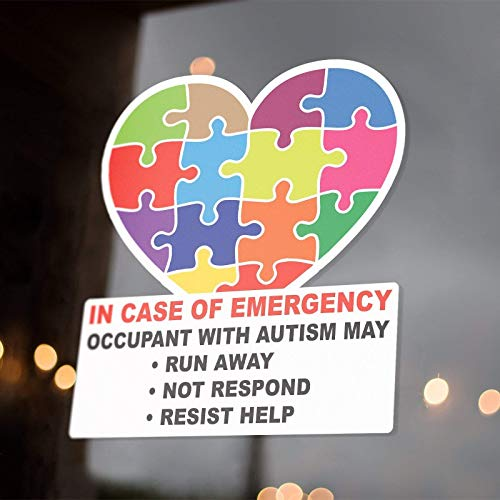 Occupant With Autism On Board Sticker Decals