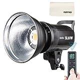 Godox SL60W 60W LEDスタジオライト 5600±300K 110V リモコン付き Bowensマウント スタジオ撮影【電源プラグが三つ穴用なので、3P→2P変換アダプタの別購入をお勧め】