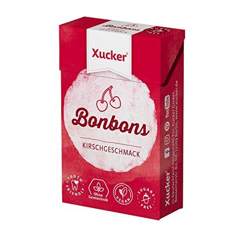 Xucker 50 G Xylit-Bonbons ciliegia – caramelle per la cura dei denti prive di zucchero – con aroma naturale, ideale per la dieta consapevole di carboidrati – Made in Germany – senza Gentechnik