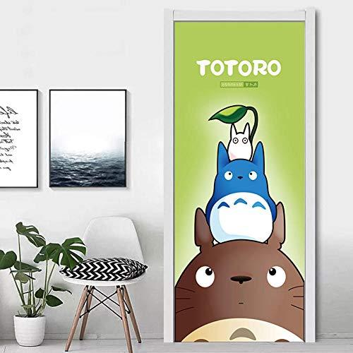 3D-deursticker, vc, waterdichte kunst, wooncultuur, mijn nabar, Totoro, zelfklevend pak voor stalen deur, papier, doe-het-zelf, 3D-print-sticker