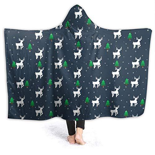 AEMAPE Ciervo Blanco en un Bosque Manta con Capucha Mantas cómodas Manta de Lana para niños, Adultos 50x40in-K2S
