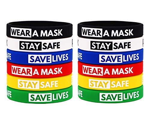 AVEC JOIE Pandemic Awareness Rubber Bracelet Infectious Disease Awareness Silicone Wristbands Unisex for Men and Women. Gift for Patients and Pandemic Survivors