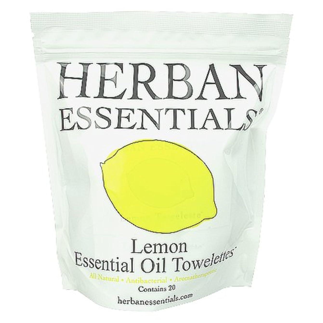 ホールドくすぐったい約束するハーバンエッセンシャルズ HERBAN ESSENTIALS アロマタオル レモン 20包