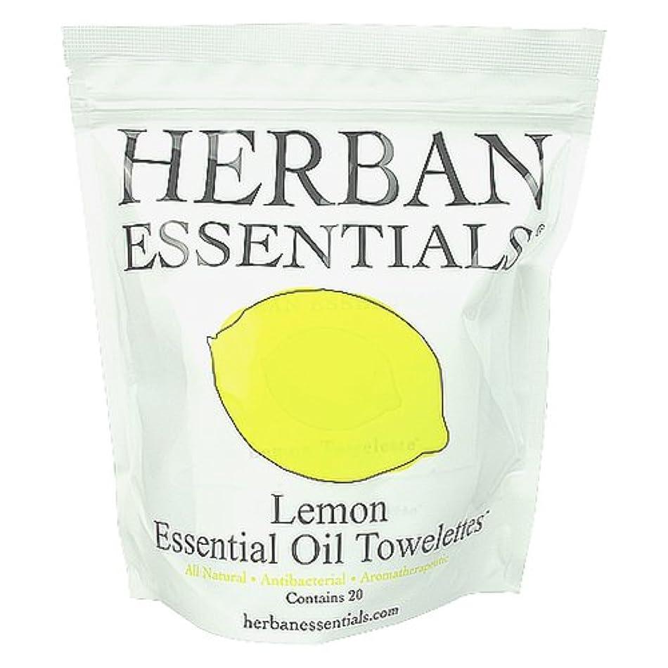 報酬の米国肘掛け椅子ハーバンエッセンシャルズ HERBAN ESSENTIALS アロマタオル レモン 20包