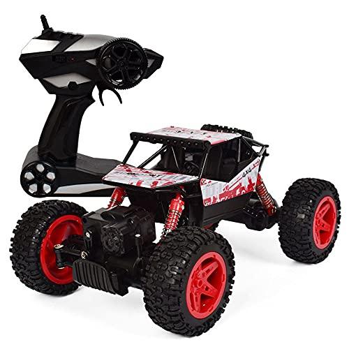 DFERGX Coche a escala 1/18, tracción en las cuatro ruedas de 2,4 GHz, vehículo todoterreno, control uno a uno, coche de escalada, coche de control remoto recargable, radiocontrol, coche de carreras pa
