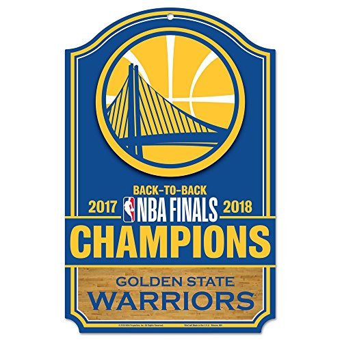 Wincraft NBA GOLDEN State Warriors 2018 - Targa in legno Champions, 28 x 43 cm