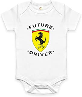 Rare New Future Ferrari Driver Auto Baby Clothes Funny Bodysuit Onesie Romper One Piece