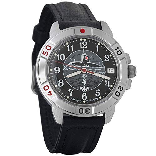 Vostok Komandirskie 2414 Hand-Winding Mechanical Russian Military Mechanical Watch // 431831 (Classic-Leather)