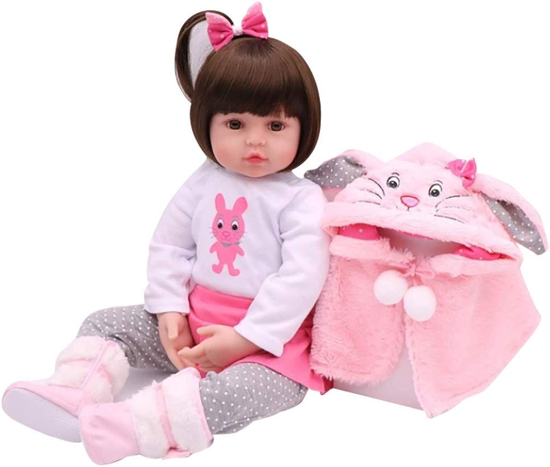 Decdeal Bambole Reborn 19 Pollici Soft Silicone + corpo in Cotone con Vestito autoino Come Regalo per i Giocattoli per Le Ragazze 3 Anni